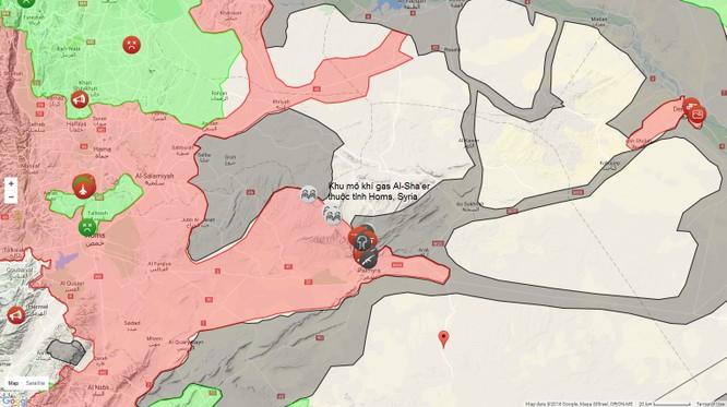 Quân đội Syria mở rộng tấn công trên địa bàn mỏ khí gas tỉnh Homs, Syria ảnh 1