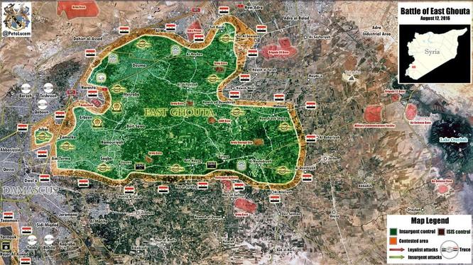 Không quân Syria phá hủy nhiều trận địa phiến quân, chuẩn bị tấn công Đông Ghouta ảnh 1