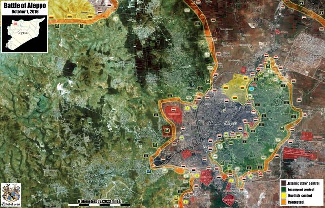 Quân đội Syria tấn công dữ dội vào các quận phía Đông Aleppo ảnh 1