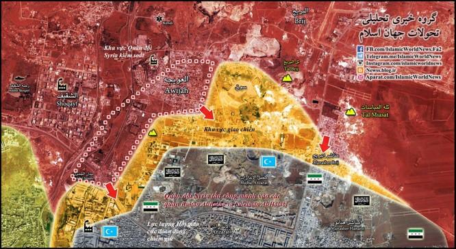 Quân đội Syria đánh sâu vào hướng quận phía Đông thành phố Aleppo ảnh 1