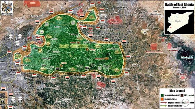 Quân đội Syria đập tan tuyến phòng thủ, chiếm thị trấn then chốt của phiến quân ảnh 1