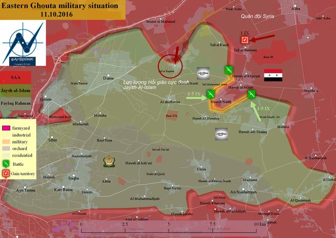 Quân đội Syria tấn công thị trấn then chốt vùng Đông Ghouta ảnh 1