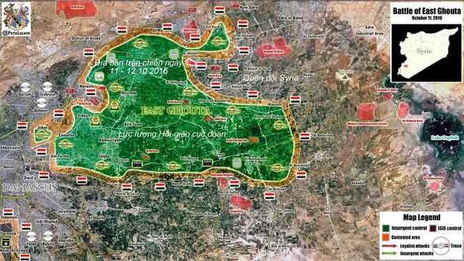 Vệ binh Cộng hòa Syria tiếp tục dồn ép Hồi giáo cực đoan ở Đông Ghouta ảnh 1