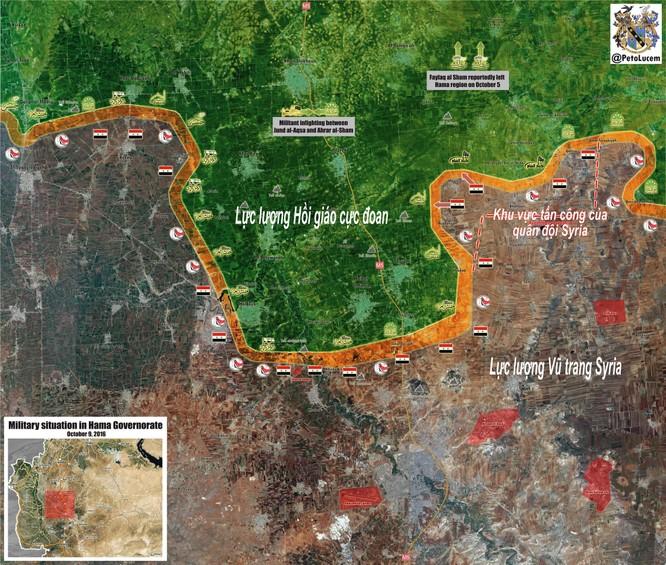 Quân đội Syria đánh chiếm một số cứ điểm ở Hama ảnh 1