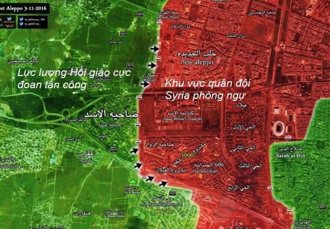 Phiến quân Hồi giáo lại dồn dập tấn công vào hướng tây Aleppo ảnh 1