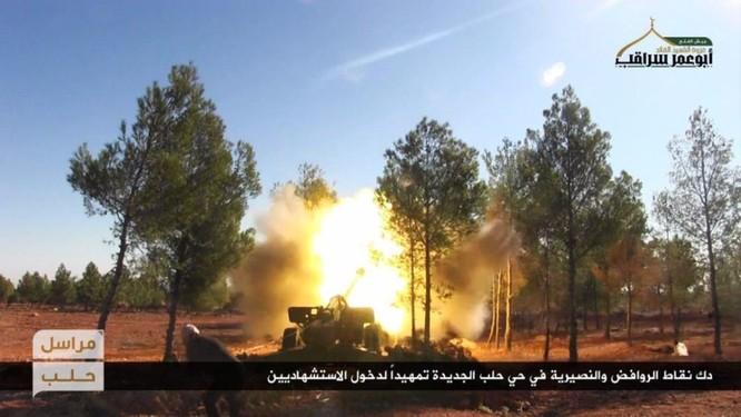 Lực lượng Hồi giáo cực đoan pháo kích man rợ hủy diệt khu vực Tây Aleppo ảnh 2