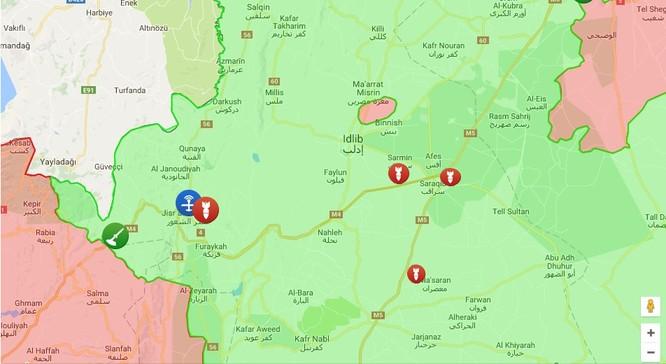 Không quân Nga và Syria giáng sấm sét dữ dội vào phiến quân ở Idlib ảnh 1