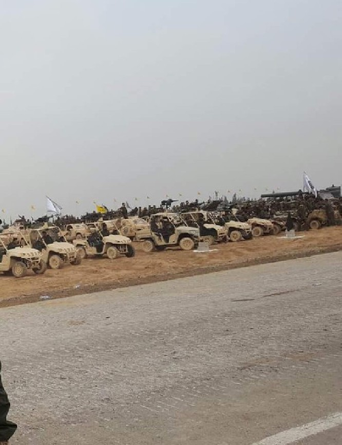 Quân Hezbollah ở Syria diễu hành mừng chiến thắng Aleppo ảnh 3
