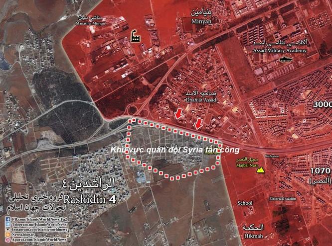 Khu vực quân đội Syria tổ chức tấn công ngày 21.11.2016