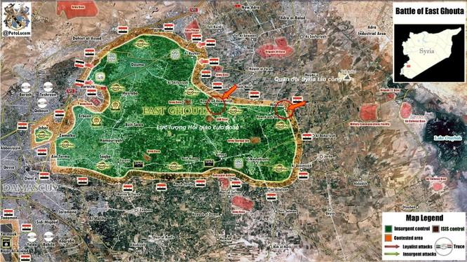 Vệ binh Syria tập kích dữ dội phiến quân ở ngoại vi Damascus ảnh 1