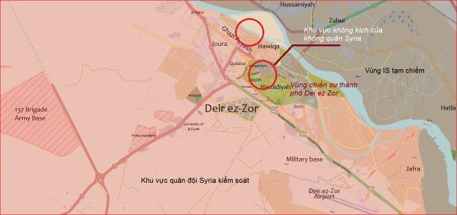 Không quân Nga và Syria đánh tê liệt phiến quân IS ở Deir Ezzor ảnh 1