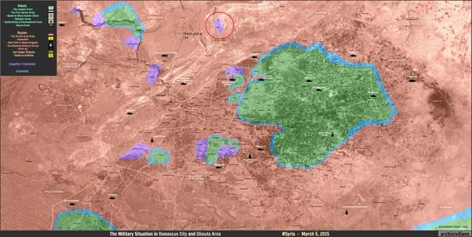 Quân đội Syria tấn công ép phiến quân đầu hàng ở Damascus ảnh 1