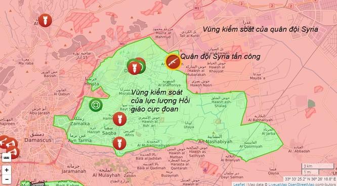 Quân đội Syria đột phá tuyến phòng thủ phiến quân ở Đông Ghouta ảnh 1