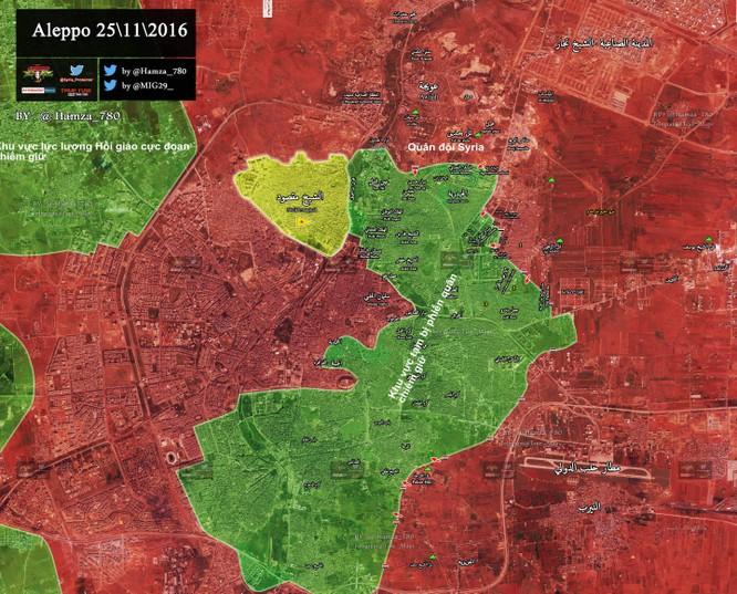 Video chiến sự Aleppo: Quân đội Syria quét sạch phiến quân tại quận then chốt ảnh 1