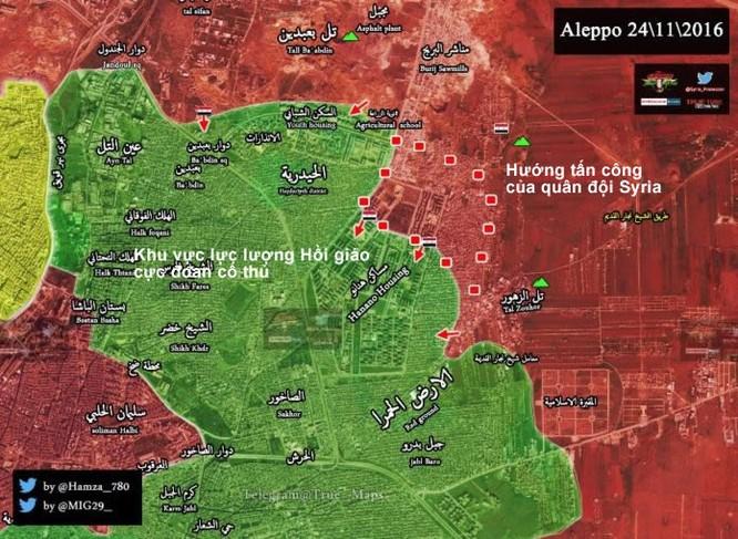 """""""Hổ Syria"""", Diều hâu sa mạc dồn dập tấn công các quận phía đông Aleppo ảnh 1"""
