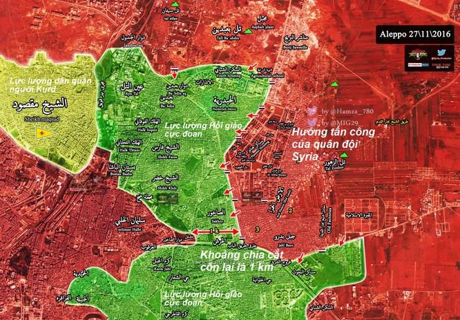 Quân đội Syria đánh chiếm thêm một quận ở đông Aleppo ảnh 1
