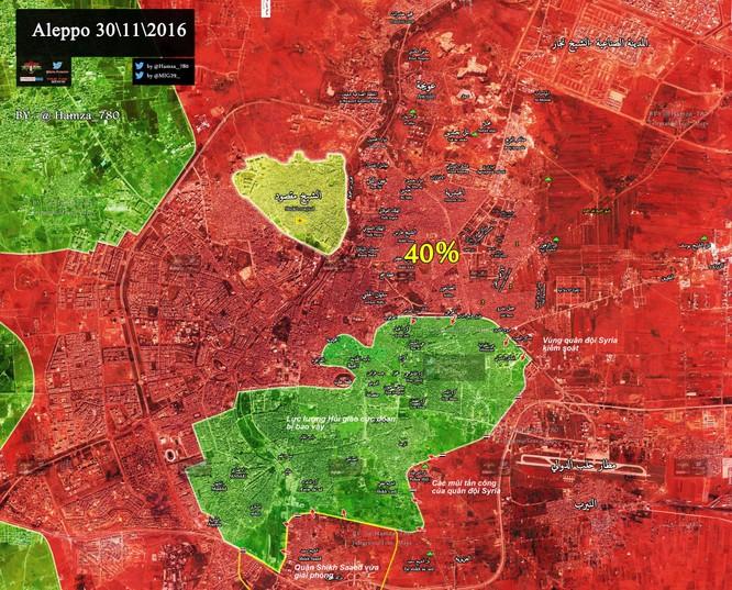 Video chiến sự Aleppo: Quân đội Syria giải phóng thêm 1 quận mới, phe thánh chiến cùng đường ảnh 1
