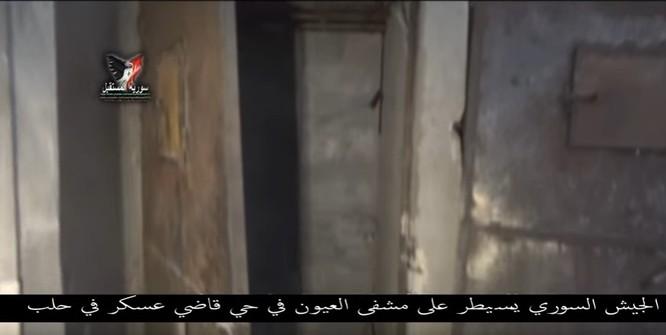Chiến sự Aleppo: Phiến quân biến bệnh viện thành sở chỉ huy, kho vũ khí và nhà tù (video) ảnh 19