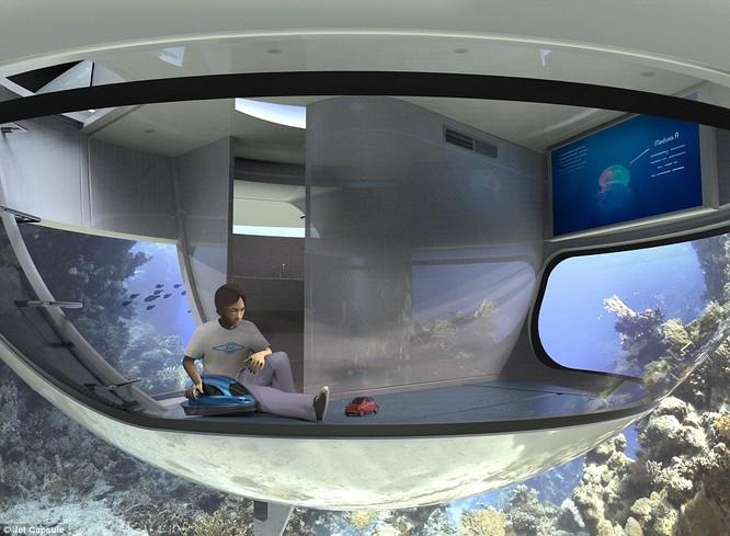 """Video: Cận cảnh nhà nghỉ """"đĩa bay"""" trên biển ảnh 2"""