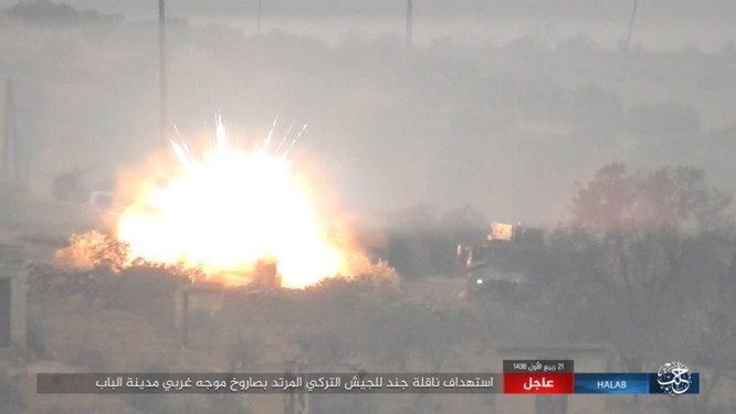 Quân Thổ Nhĩ Kỳ thảm bại trước IS trong trận chiến al-Bab, Aleppo (video) ảnh 4