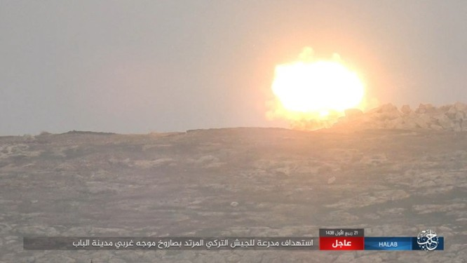Quân Thổ Nhĩ Kỳ thảm bại trước IS trong trận chiến al-Bab, Aleppo (video) ảnh 7