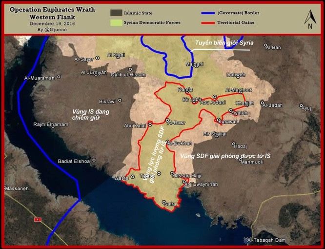 Chiến sự Syria: Người Kurd chiếm hơn 50 làng, tiến sát thành trì IS ảnh 1