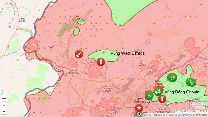 Chiến sự Syria: Trận chiến ngoại ô Damascus tăng nhiệt (video) ảnh 1