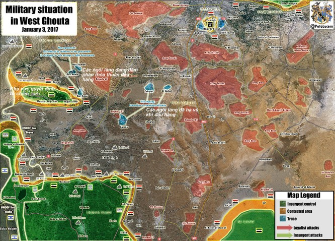 Quân đội Syria giải phóng 6 làng từ tay phiến quân ở ngoại vi Damascus ảnh 1