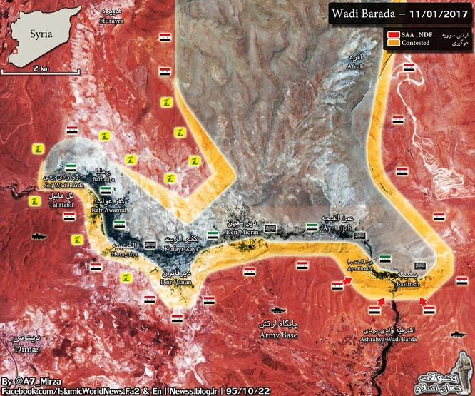 Quân đội Syria đánh thiệt hại nặng phiến quân thánh chiến ngoại vi Damascus ảnh 1
