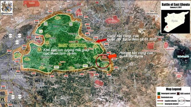 Chiến sự Syria: Giao tranh ác liệt với phiến quân ở ngoại vi Damascus (video) ảnh 1