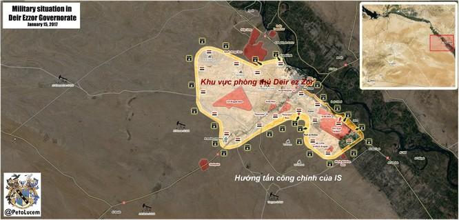 Chiến sự Syria: IS tấn công dữ dội Deir ez Zor, bao vây sân bay chiến lược ảnh 1