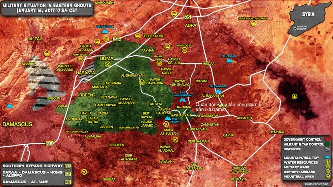 Quân đội Syria đánh chiếm thị trấn chiến lược Đông Ghouta ảnh 1