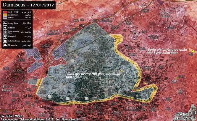 Chiến sự Syria: Quân Assad sắp đè bẹp phiến quân 2 thị trấn ngoại vi Damascus ảnh 1