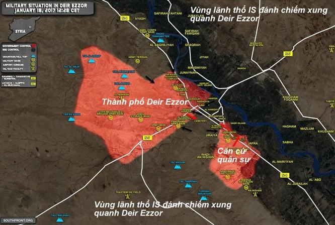 IS tiếp tục tiến hành cuộc tấn công ác liệt vào sân bay quân sự Deir Ezzor ảnh 1