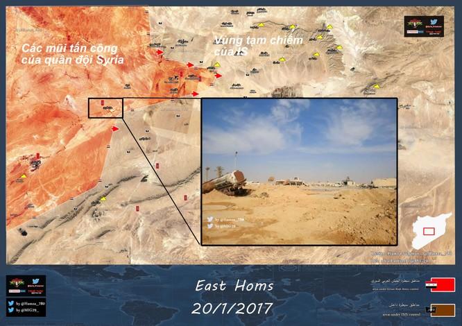 Quân đội Syria chọc thủng tuyến phòng thủ IS, giải vây căn cứ ảnh 1