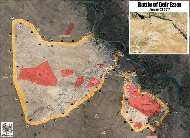 Chảo lửa Deir Ezzor: Quân đội Syria tiêu diệt 500 tay súng IS (video) ảnh 1