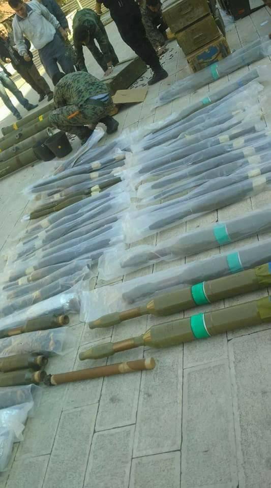 Quân đội Syria thu giữ một kho vũ khí lớn ở ngoại ô Damascus ảnh 1