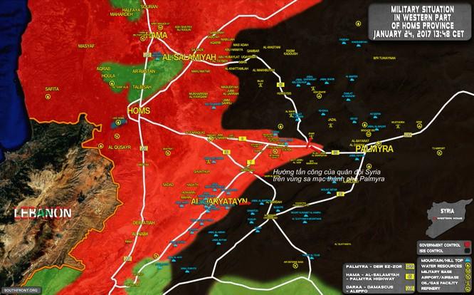 """""""Hổ Syria"""", Vệ binh cộng hòa tấn công cô lập IS ở Palmyra ảnh 1"""