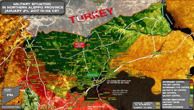 Quân đội Syria, Thổ Nhĩ Kỳ tiến đánh IS ở al-Bab Aleppo ảnh 1
