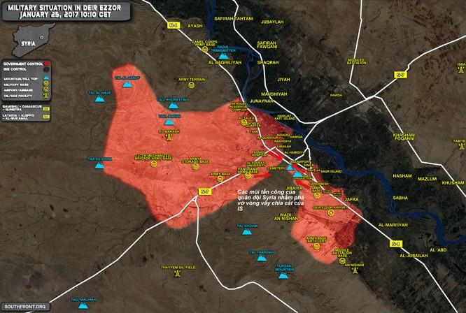 Trận chiến Deir Ezzor: Quân đội Syria ác chiến phá vây IS ảnh 1