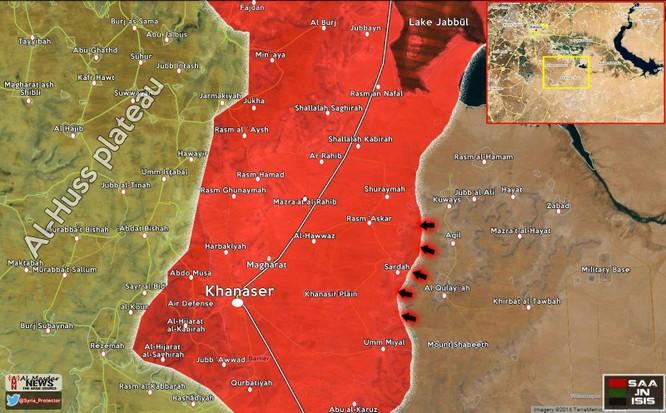 Vệ binh Syria đánh bật phiến quân IS, mở lại đường tới Aleppo ảnh 1