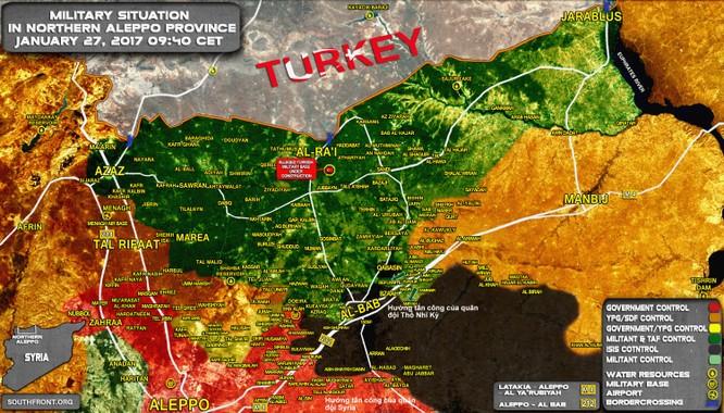 Chiến sự Syria: Quân Assad bao vây cứ điểm IS từ hướng đông bắc Aleppo ảnh 1