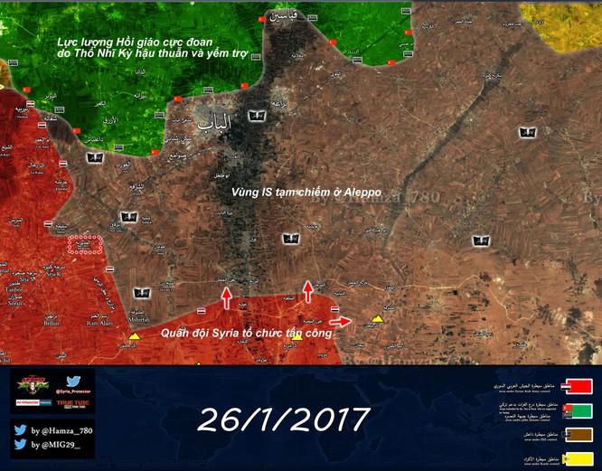 """""""Hổ"""" Syria dồn dập tiến công về thành phố Al-Bab, Aleppo ảnh 1"""