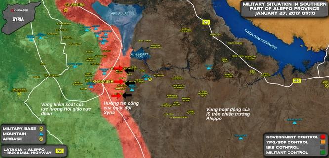 Trận chiến đông Aleppo: Tăng T-90 Nga lại xung trận diệt IS ảnh 1