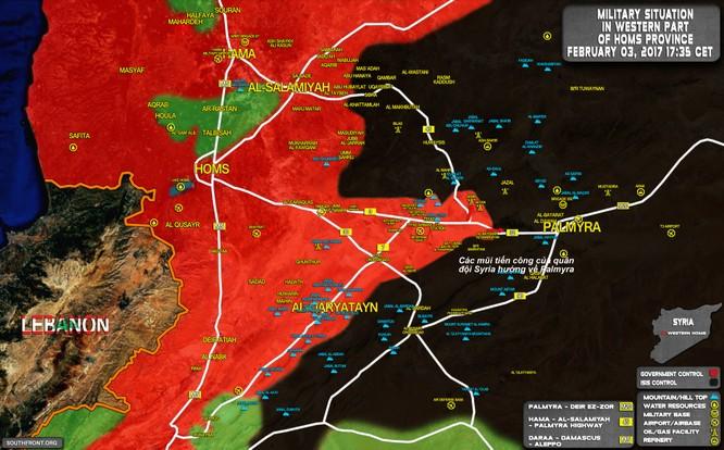Chảo lửa Palmyra: Quân đội Syria dồn dập tấn công, IS co cụm phòng thủ (video) ảnh 1