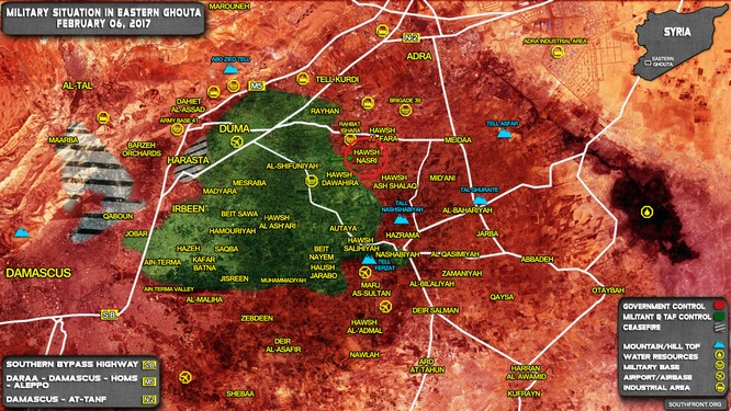 Quân đội Syria đánh bật cuộc tấn công lớn của phiến quân ở ngoại vi Damascus ảnh 1