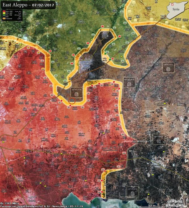 Các mũi tấn công của quân đội Syria trong khu vực chiến trường phía đông Aleppo