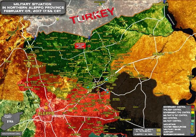 Chiến trường phía đông Aleppo tính đến ngày 09.02.2017