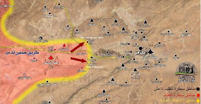 Chiến sự Palmyra: Quân đội Syria đập tan tuyến phòng ngự IS, giải phóng một vùng lớn ảnh 4