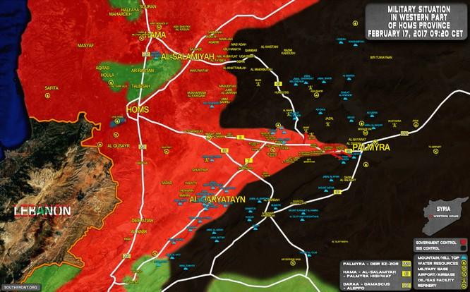 """Chiến sự Palmyra: Quân đội Syria rơi vào tình huống giao chiến """"đèn cù"""" với IS ảnh 1"""
